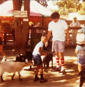 My Dad was helping me feeding goats at Knotts Berry Farm on August 3, 1979.