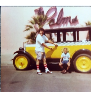 My Dad and me at Knotts Berry Farm on August 3, 1979.