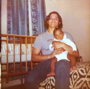 My Dad was holding me when I was only 8 months old in 1973.