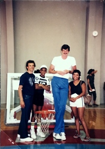 My Dad, Auntie Lucy and Me had taken picture with Lakers player, Chuck Nevitt during summer of 1985.